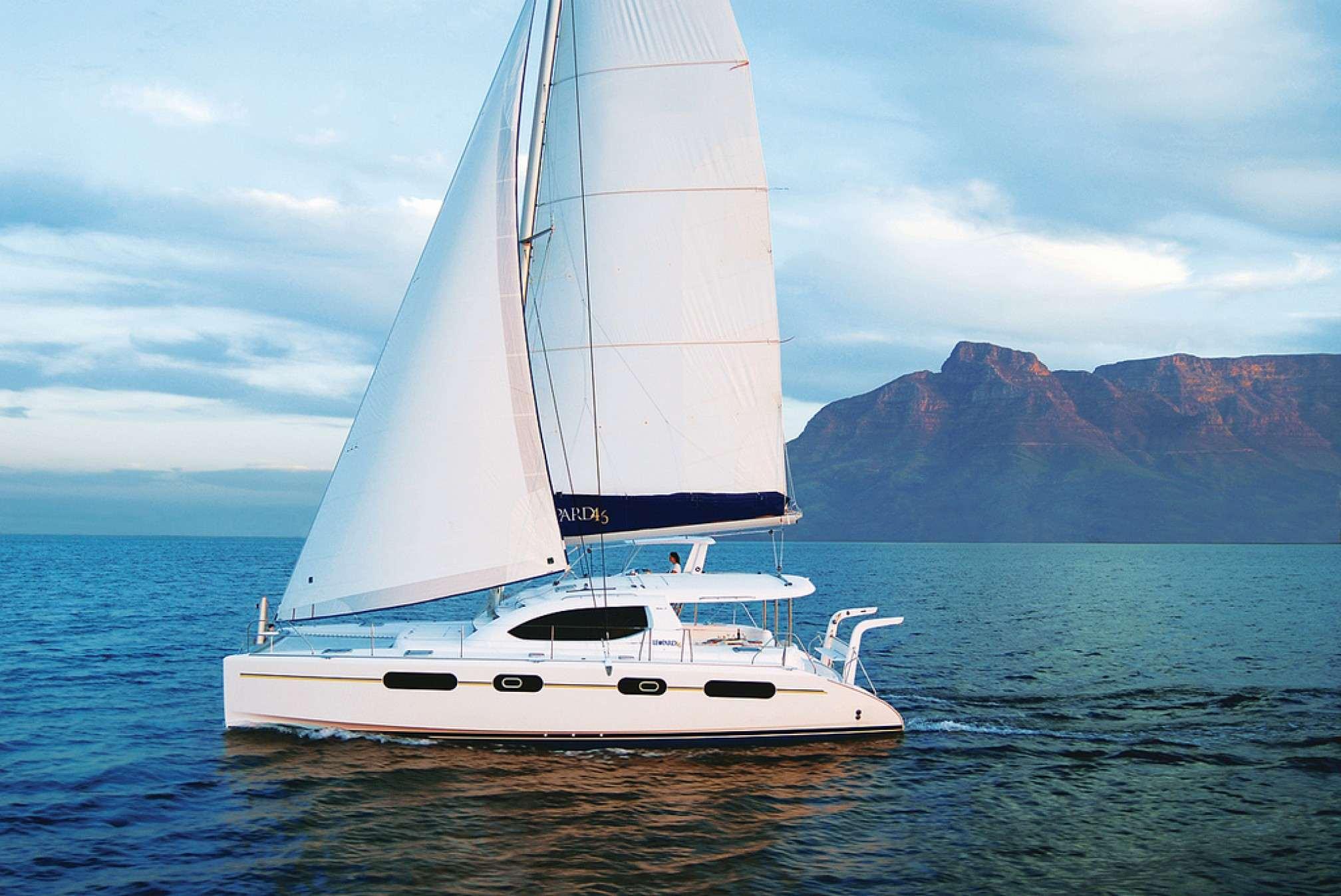 Leopard-46-catamaran-charter-sailing